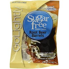GoLightly Root Beer Barrels Sweetened with Splenda Hard Candies 78 gm