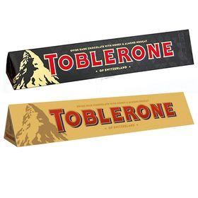 Toblerone Pack Of 2 Dark and Milk 100g Each