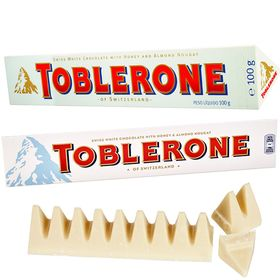 Toblerone White Chocolate With Honey & Almond Nougat, 100g (Pack of 2)
