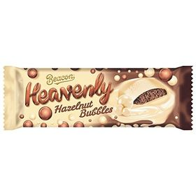 Beacon Heavenly Hazelnut Bubbles white Chocolate with an Aerated Hazelnut Flavoured Centre, 95g
