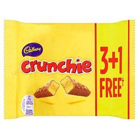 Cadbury Crunchie Chocolate Small Bar 3 and 1