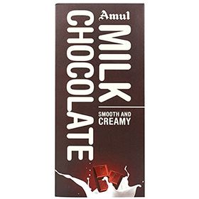 Amul Milk Chocolate Smooth And Creamy 150 Grams Pack Of 5