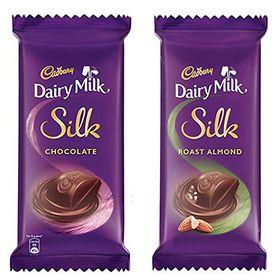 CadburyDairy Milk Silk,574 gm (2x150g Silk Chocolate Bar, 2x137g Silk Roast Almond)
