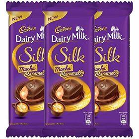 Cadbury Dairy Milk Silk CaramelloMocha, 136g (Pack of 3)