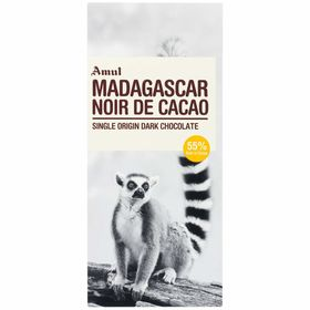 Amul Madagascar Single Origin Dark Chocolate Bars  (125 g)