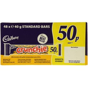 Cadbury Crunchie 50p Standard Bars 48 Pack 40g