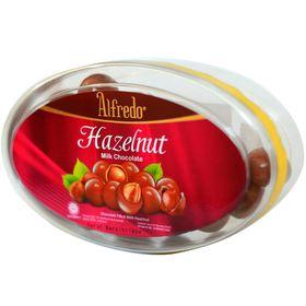 ALFREDO HAZELNUT MILK CHOC TIN 160G