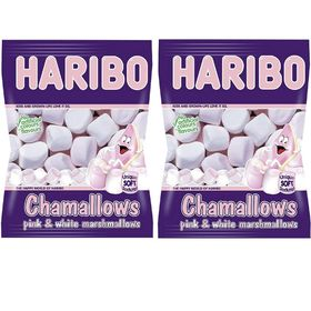 Haribo Chawmallows, 150g Pink and White Premium Soft Marshmallows (Pack Of 2)