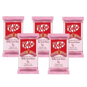 Kit Kat Ruby Cocoa Beans Chocolate Bar (Pack of 5), 41.5 g