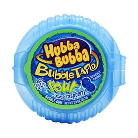 Hubba Bubba Bubble Tap Sour Blue Raspberry 6ft Gum, 56.7g