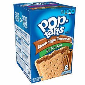 Kellogg's Pop Tarts Unfrosted Brown Sugar & Cinnamon Toaster Pastries, 397g