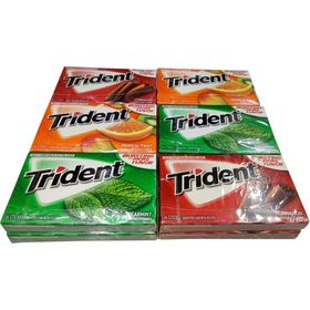 Trident Sugar Free Gum Variety Pack, 14 Sticks (Pack of 12, Value for Money)