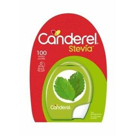 Canderel with Stevia Low Calorie Sweetener 100 Tablets 8.5g ( Red & Green Packing)