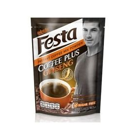 Festa Instant Sugar Free Coffee Mix Powder With Ginseng 10 X 12g, 120g