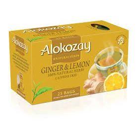Alokozay Natural Herb Ginger & Lemon 25 Bags, 45g