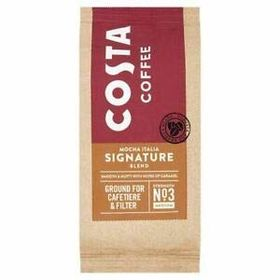 Costa Coffee Mocha Italia Signature Blend Ground for Cafetiere & Filter Coffee Medium Strength No-3 Packet, 200g