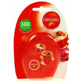 Canderel Zero Calories Sweetener 300 Sugar Tablets Red Packet, 25.5g