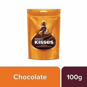 Hershey's Kisses Almond Pouch (100.8 g) -Pack of 6