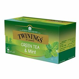 Twinings Green Tea & Mint, 25 Tea Bags (Imported), 37.5g