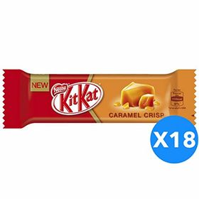 Nestle Kitkat Crispy Caramel Pieces 18x2 Finger Bar Box, 351g