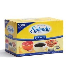 Splenda No Calorie Sweetener 1000 Packets, 1kg