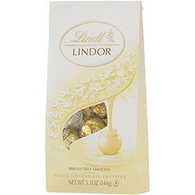 Lindt Lindor White Chocolate Truffle, 5.1 Oz Bags - Pack of 2
