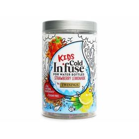 Twinings Sugarfree Kids Cold In'fuse for Water Bottles Strawberry Lemonade 12 Infusers, 30g
