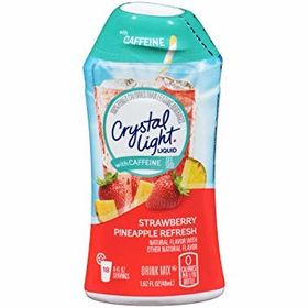 Crystal Light Liquid Strawberry Pineapple Flavour with Caffeine Drink Mix 48ml