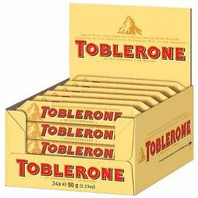 Toblerone Chocolates Box 50 Gm X 20 Pcs and Silver Plated Coin
