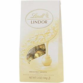 Lindt Lindor White Chocolate Truffle, 144g Bags - Pack of 2 and Silver Plated Coin
