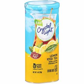 Crystal Light Tea Lemon Iced Tea Made with Black Tea Drink Mix, 39g