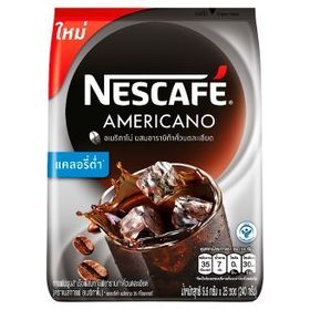 Nestle Nescafe Americano Instant Coffee Mixed with Arabica Ground Roasted (25 X 9.6 g, 240 g)
