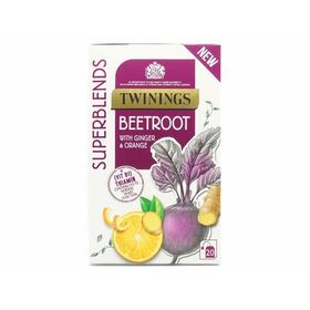 Twinings Superblends Beetroot with Ginger & Orange Tea 20 Tea Bags, 40g