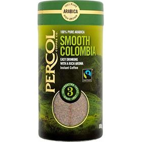 Percol Smooth Colombian 100% Arabica Coffee Bottle Strength No.3, 100g
