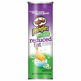 Pringles Potato Crisps, Sour Cream & Onion Reduced Fat - 149g (5.2oz)