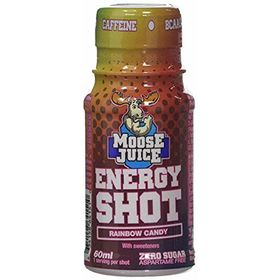 Moose Juice Energy Shot Rainbow Candy Flavour Zero Sugar , 60ml