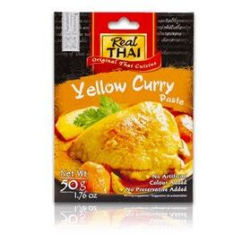Real Thai Yellow Curry Paste (Pack of 2), 50g