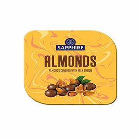 Sapphire Almonds Covered with Milk Choco, 90gm