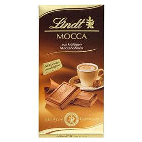 Lindt Mocha / Mocca Coffee Flavoured Rick Milk Chocolate Bar, 100 Grams