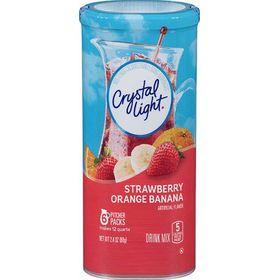 Crystal Light Strawberry Orange Banana Drink Mix, 68g