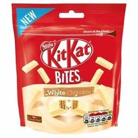 Kit Kat Bites White Chocolate Packet (104 gm) and Silver Plated Coin