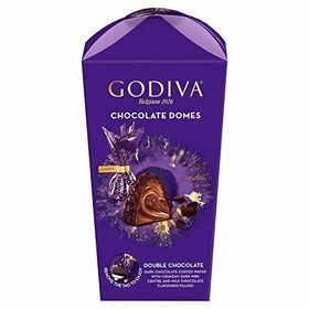 Godiva Chocolate Domes Double Chocolate Dark Chocolate Coated Wafer with Dark Nibs & Milk Chocolate Filling Gift Box, 150g