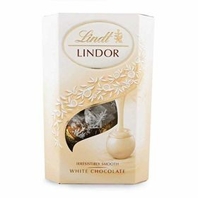 Lindt Lindor - White Chocolate Truffles - 200 Grams and Silver Plated Coin