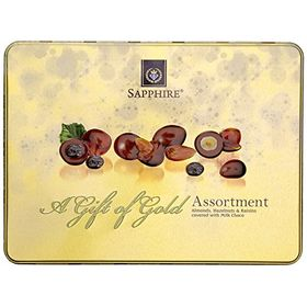 Sapphire Chocolate Coated Nuts Gold Assorted, 350g