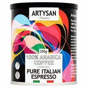 Artysan Italian Espresso 100% Arabica Organic Coffee Tin, 250g