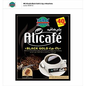 Alicafe Gold Instant No Sugar Black Coffee -40 Sachets 100 g