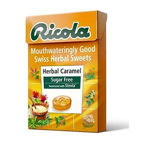 Ricola Herbal Caramel Suger Free Drops Sweetened with Stevia 45g