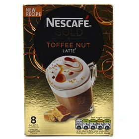 Nescafe Gold Toffee Nut Latte 8 Mugs, 156g