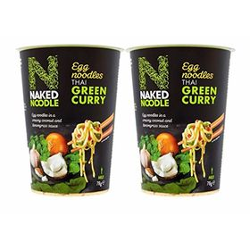 Naked Noodle Thai Green Curry Instant Egg Noodle Cup, 78g - Pack of 2