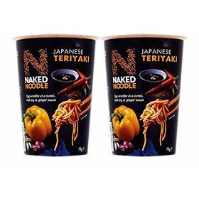Naked Noodle Japanese Teriyaki Instant Egg Noodle Cup, 78g - Pack of 2